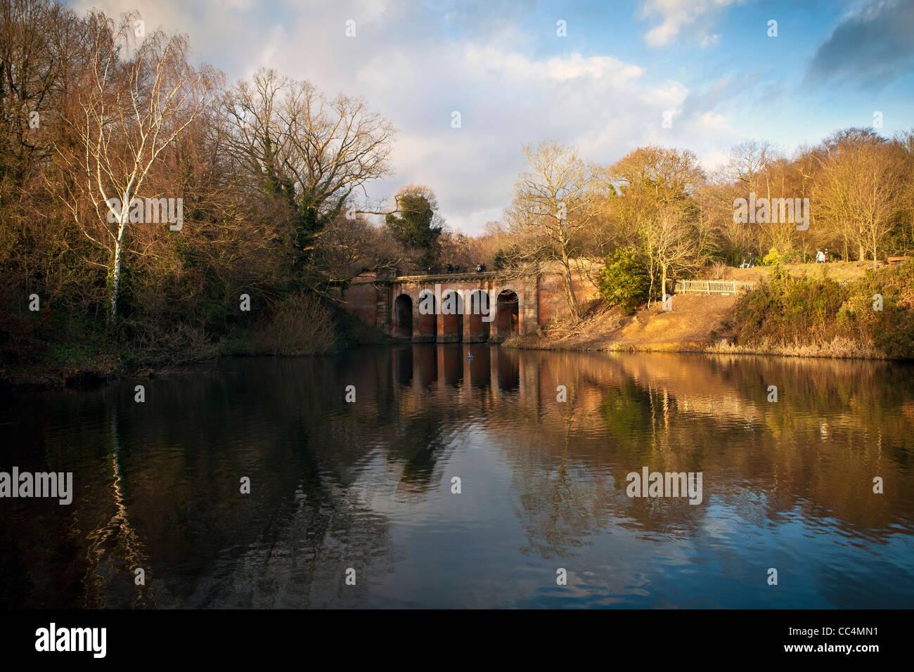 Viaduct Bridge Hampstead Heath. London, England. - Stock Image