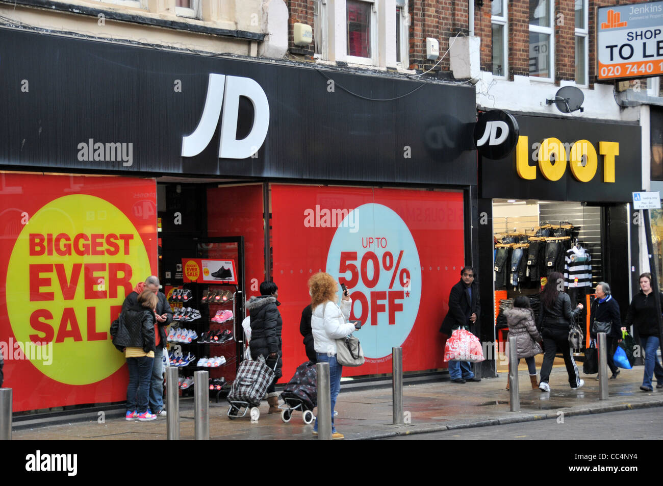 JD Sports sale Wood Green Loot sports wear urban shoes clothes London  august riots looting aa020b541