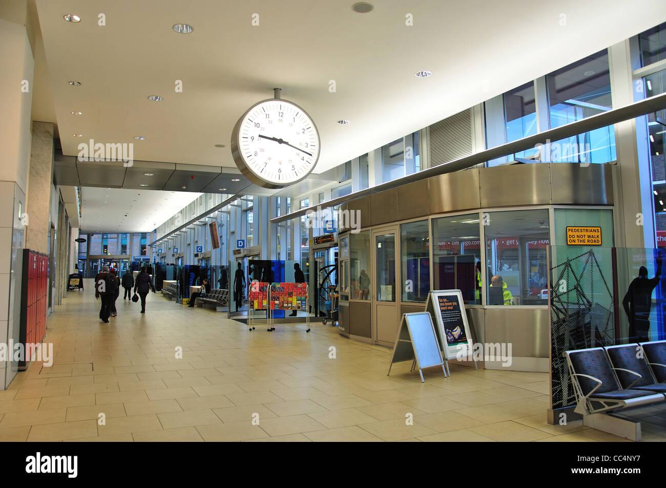 Bus Station At Eldon Square Shopping Centre Newcastle Upon Tyne Tyne And Wear England United Kingdom