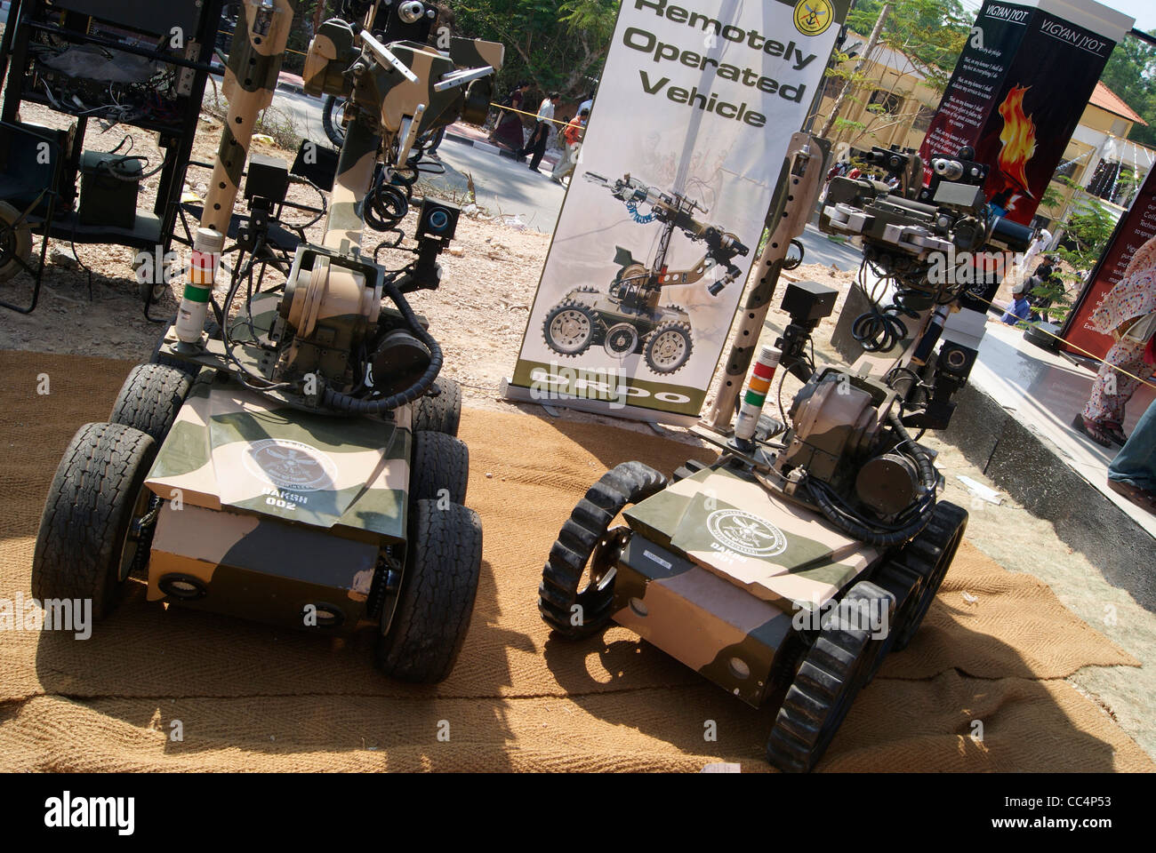 Daksh - Remotely Operated Robotic vehicles developed by Defence Research and Development Organisation (DRDO ,India Stock Photo
