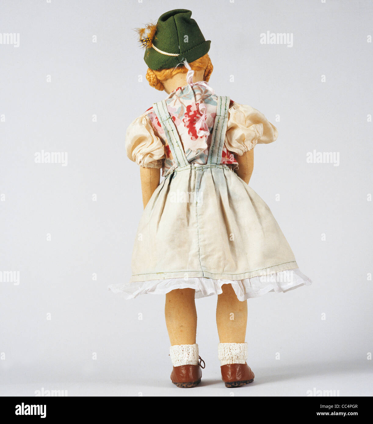 Collecting Toys Twentieth Century. lpine Doll. Years 30/40. Height 50Cm Stock Photo