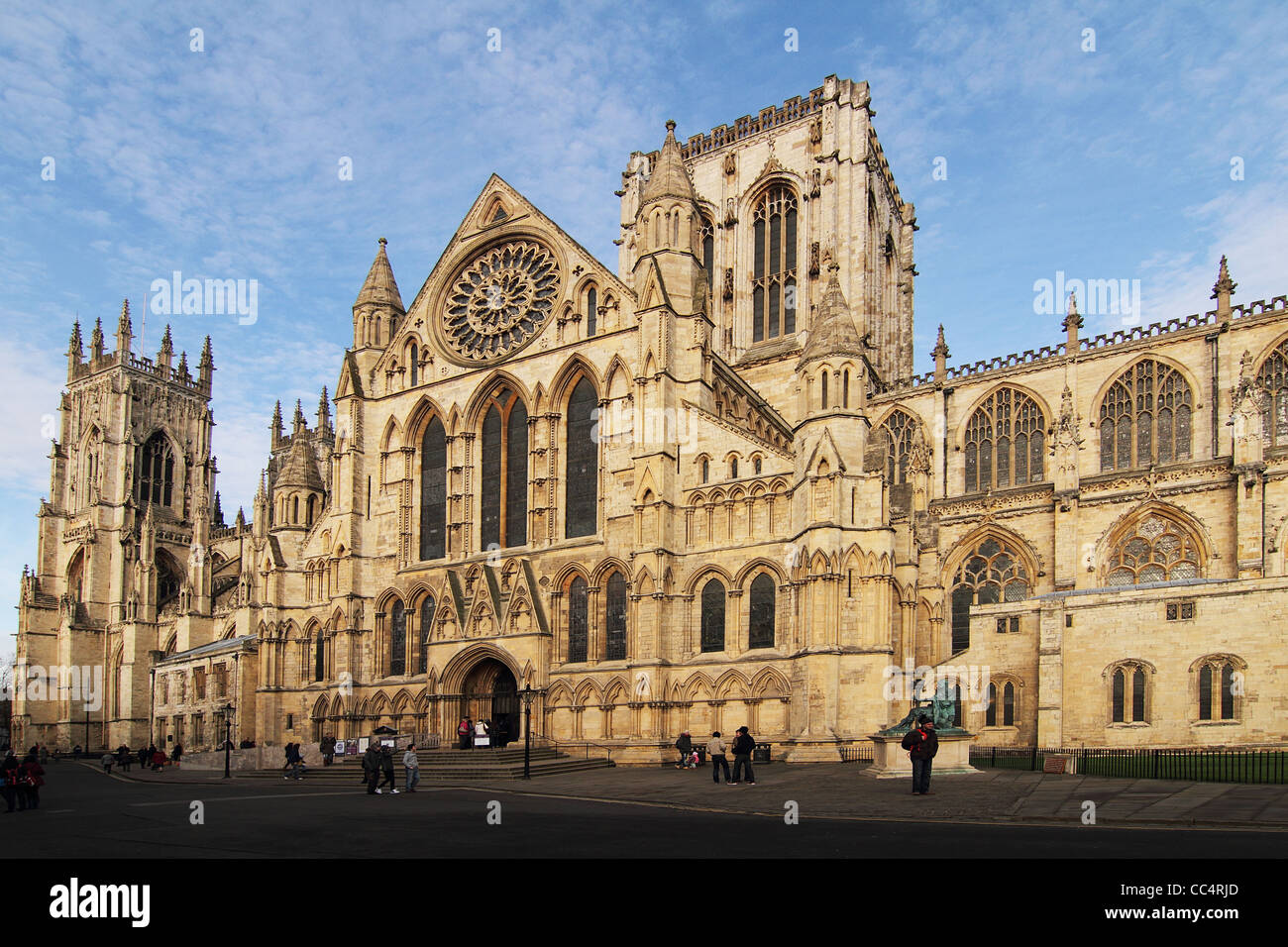 York minster exterior view - Stock Image
