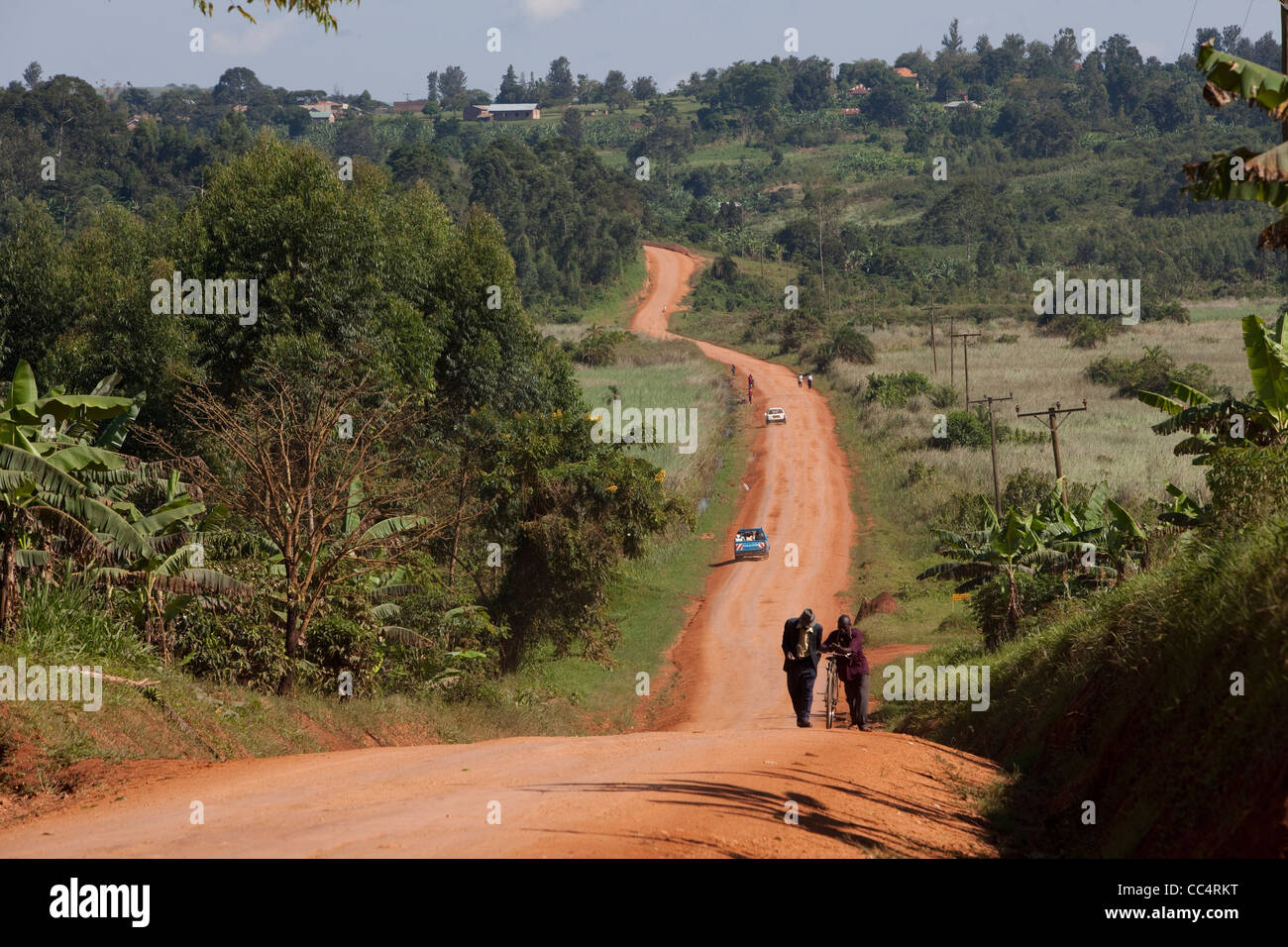 Kawoko town, Masaka District, Uganda PSI reproductive health programs 2010 Photo by Jake Lyell - Stock Image