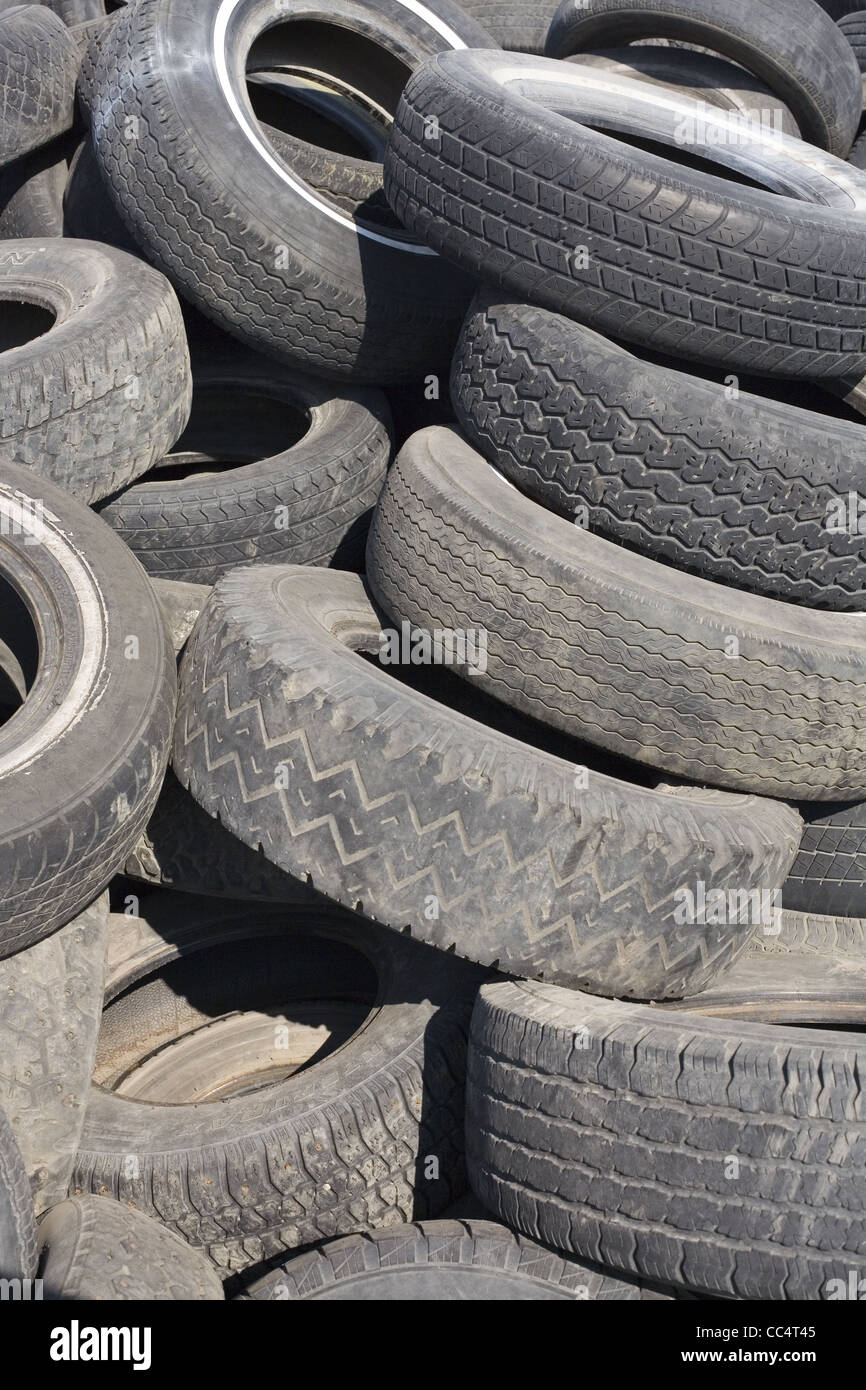 Junkyard Tires - Stock Image