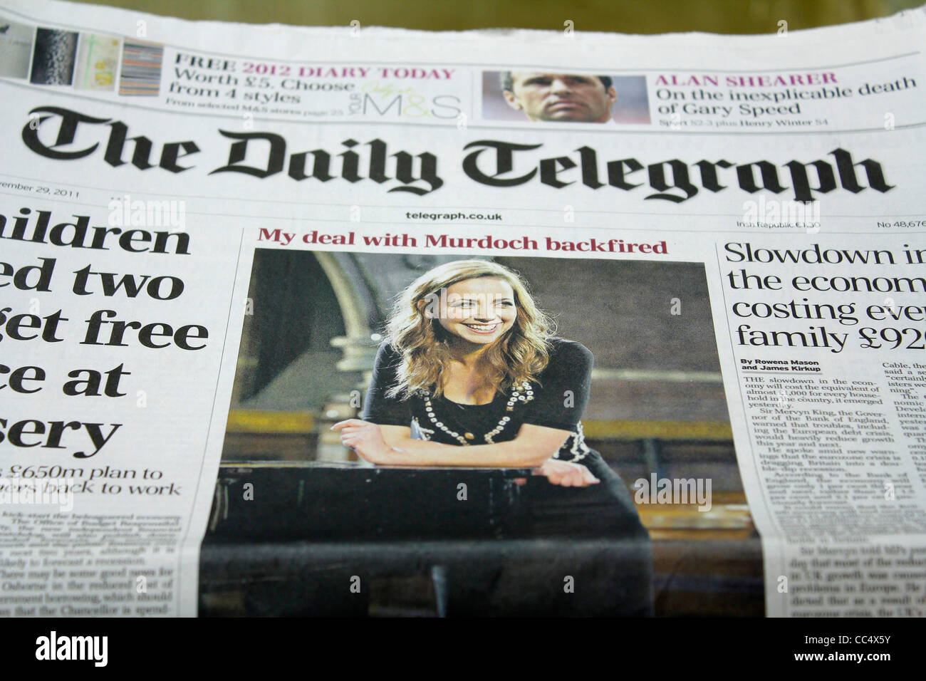 British newspaper - Stock Image