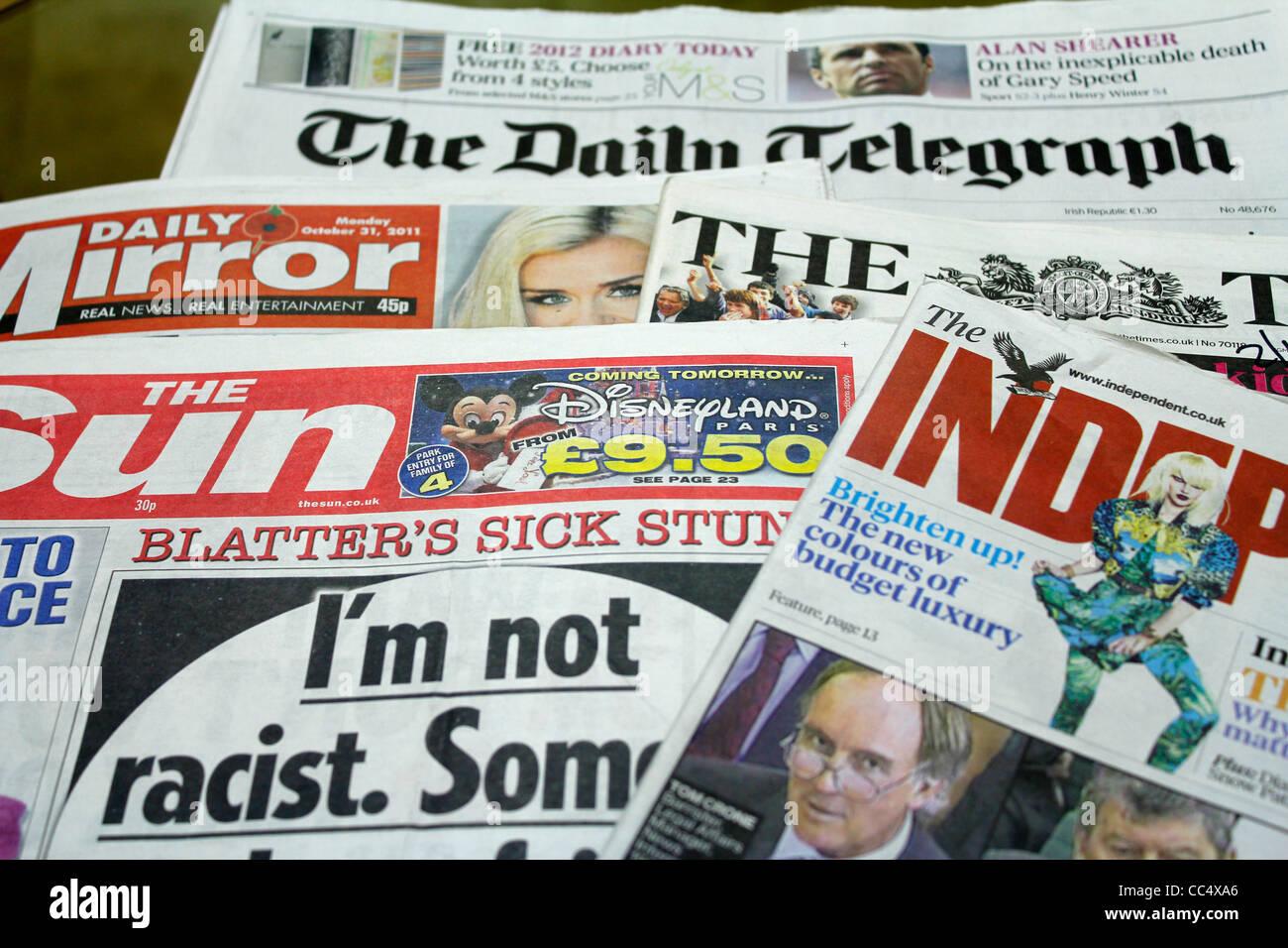 British newspaper Stock Photo