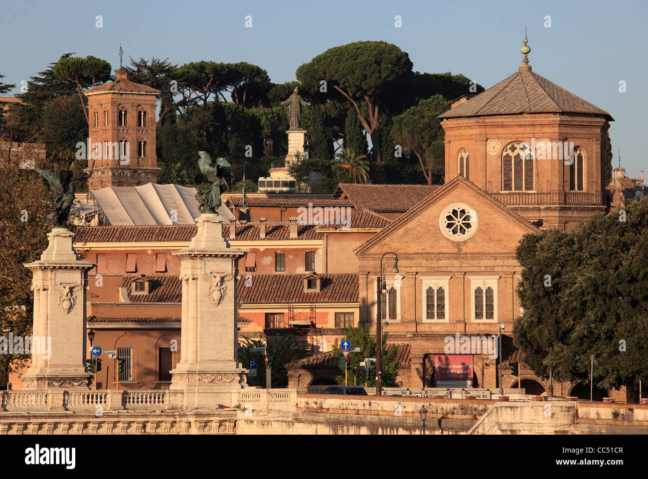 Italy, Lazio, Rome, Ospedale Santo Spirito, hospital, Vittorio Emanuele II Bridge, Stock Photo