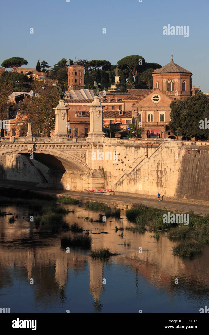 Italy, Lazio, Rome, Santo Spirito in Saxia, hospital, church, Vittorio Emanuele II Bridge, Tiber River, - Stock Image