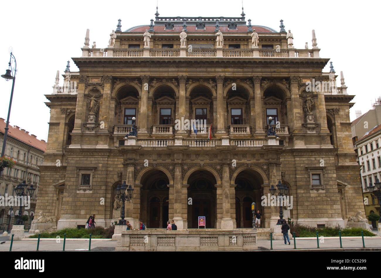 Magyar Allami Operahaz the Hungarian State Opera House along Andrassy ut Budapest Hungary Europe - Stock Image