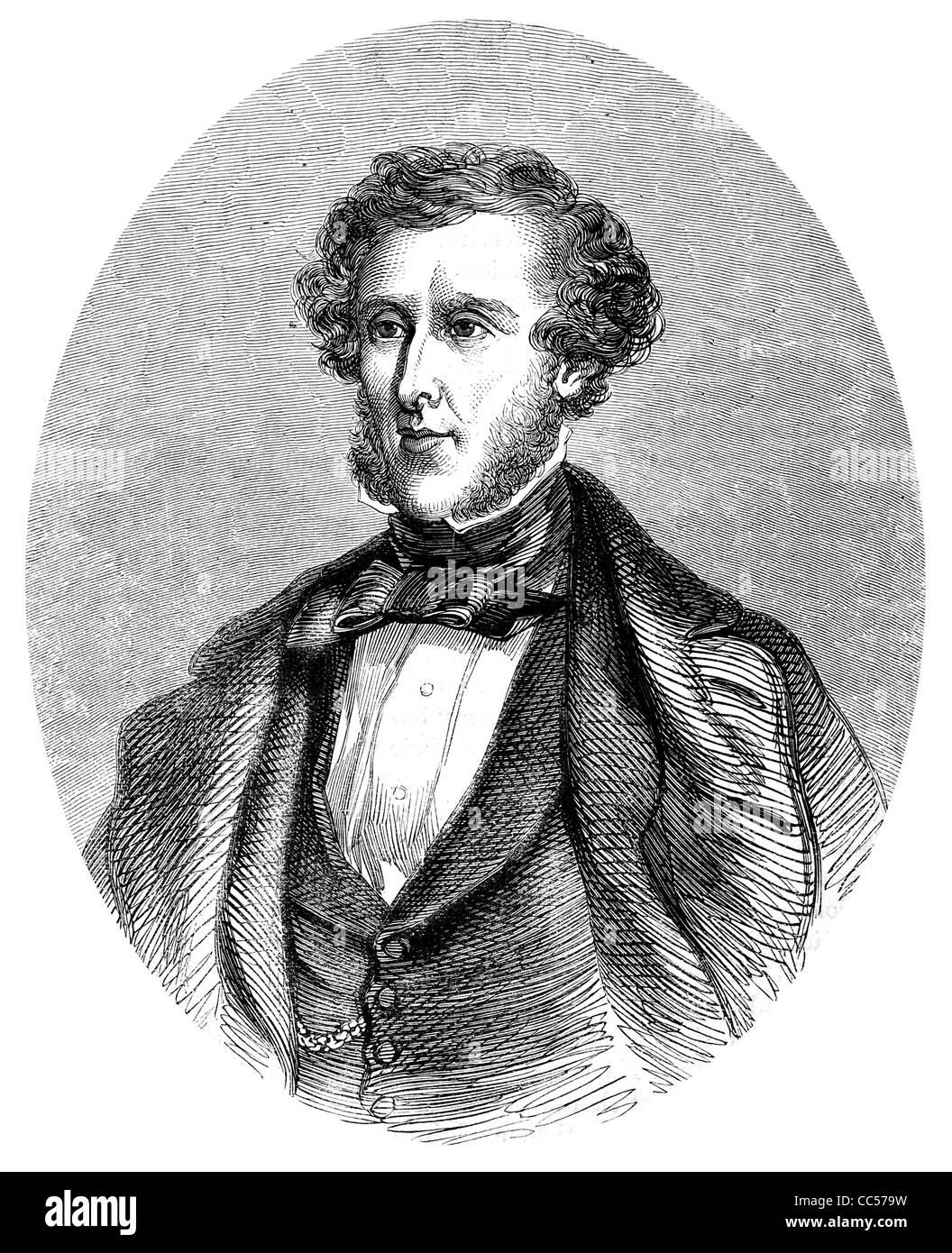 Anthony Ashley Cooper 7th Earl of Shaftesbury 1801 1885 English politician philanthropist Victorian era period portrait - Stock Image