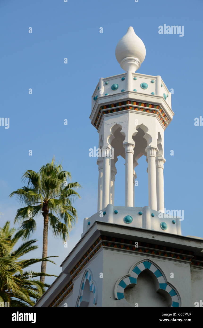 Oriental Dome and Architectural Detail at Entrance to the 'Orient Palace', a former Belle Epoque Hotel, - Stock Image