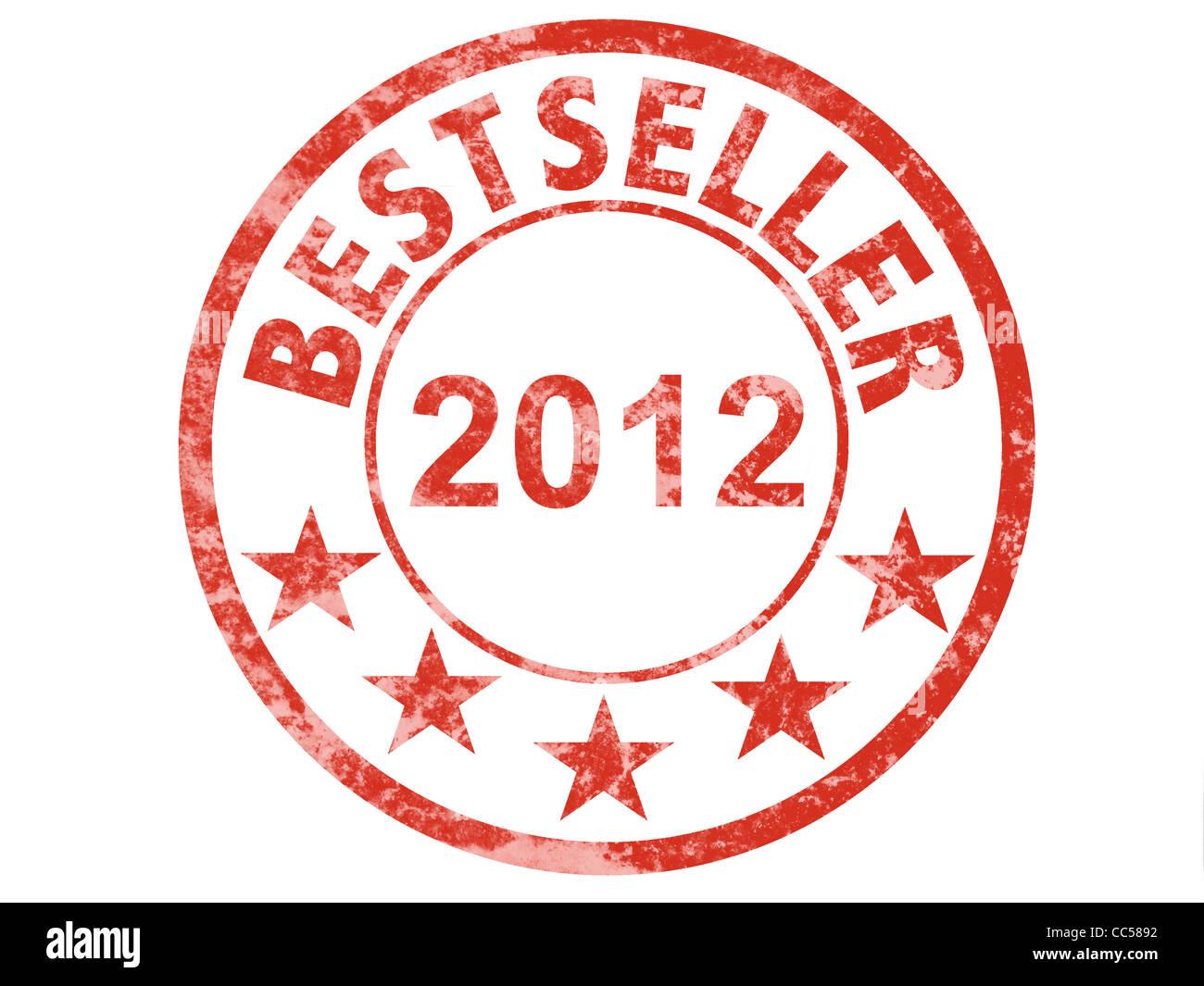 grunge rubber stamp bestseller 2012 - Stock Image