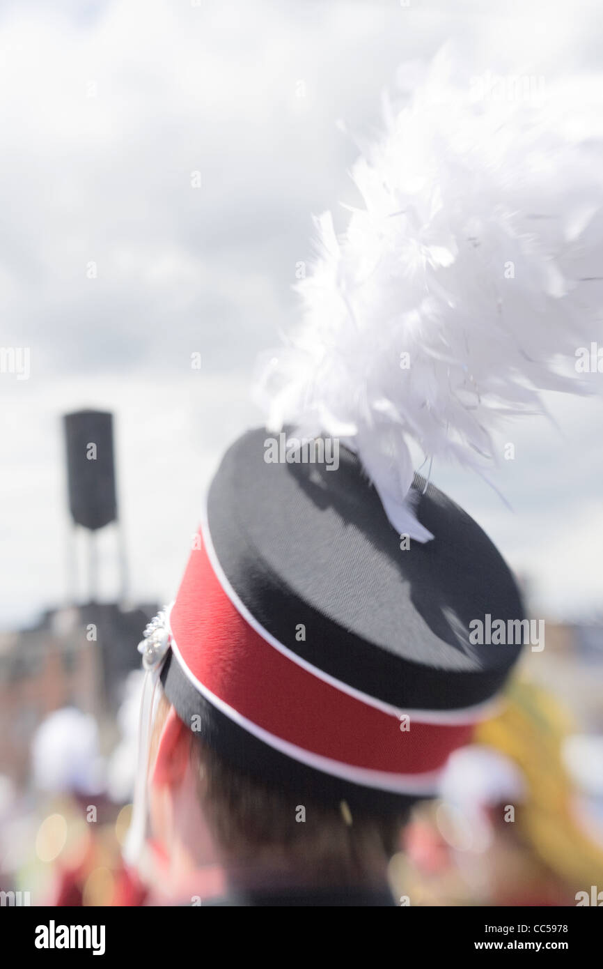Marching Band Member in Rose Festival Parade - Stock Image