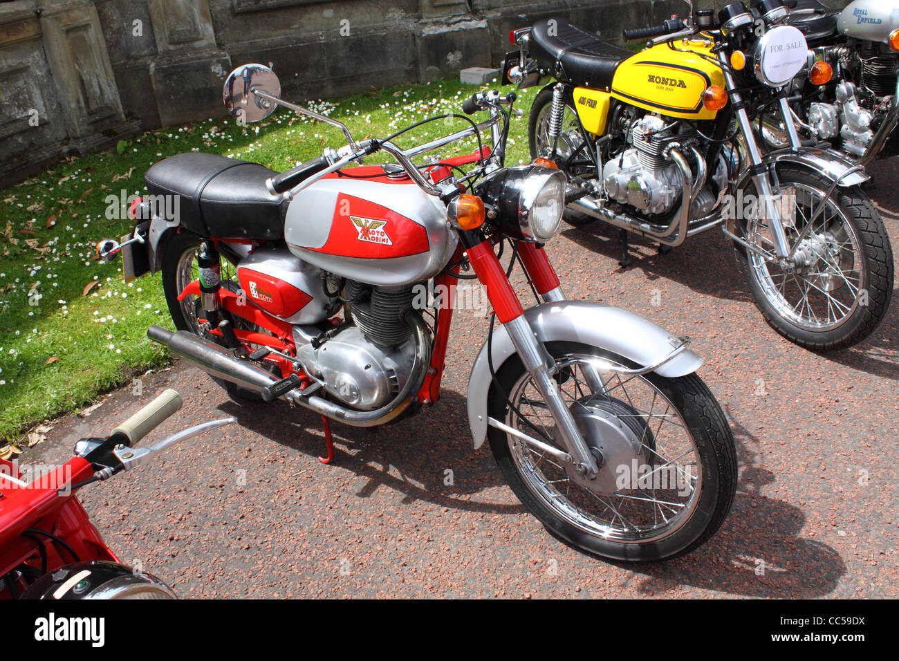 1960's Moto Morini Settebello 250 classic motorcycle at a show in Northern Ireland - Stock Image
