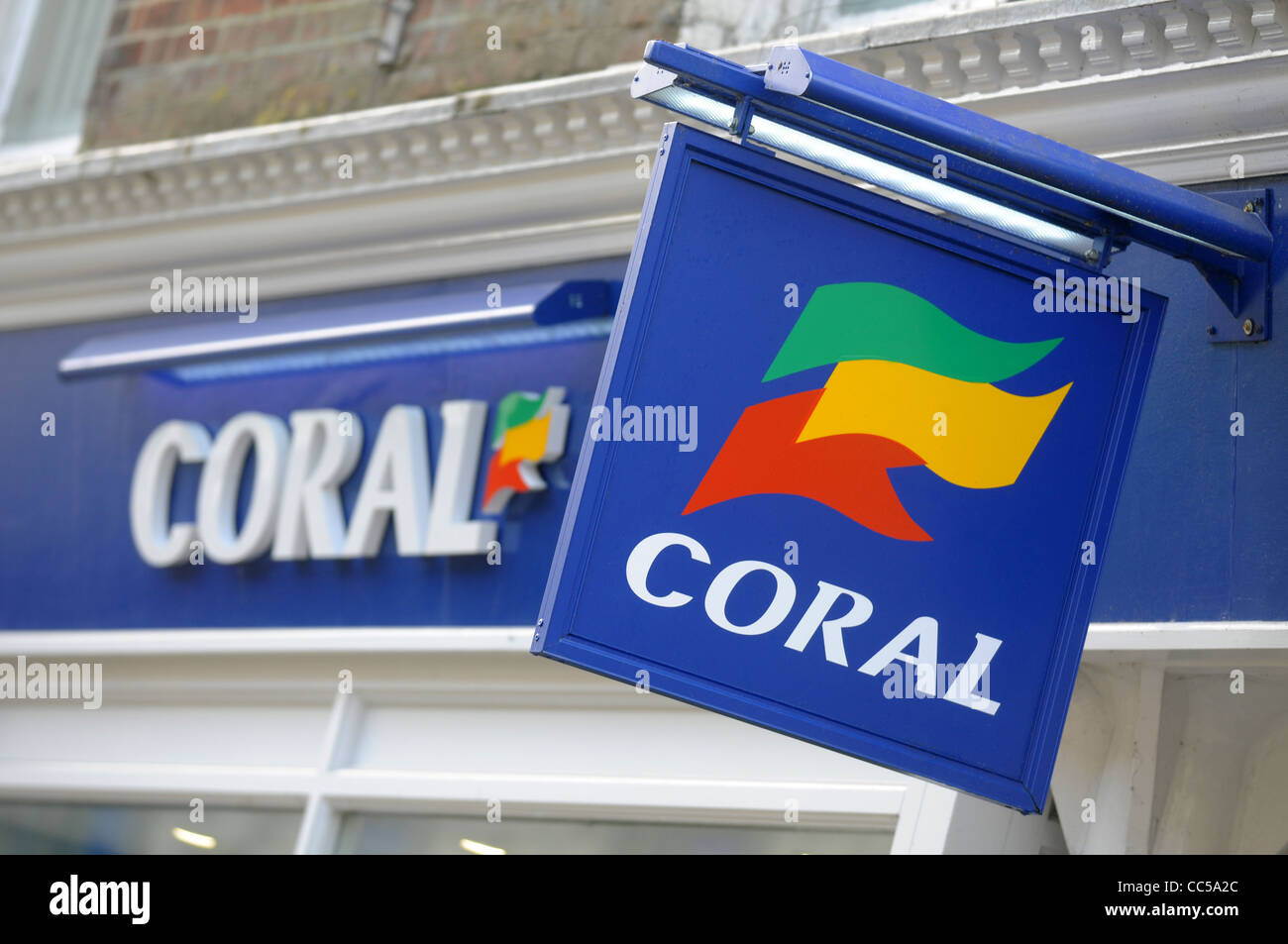 Coral betting shop, UK - Stock Image