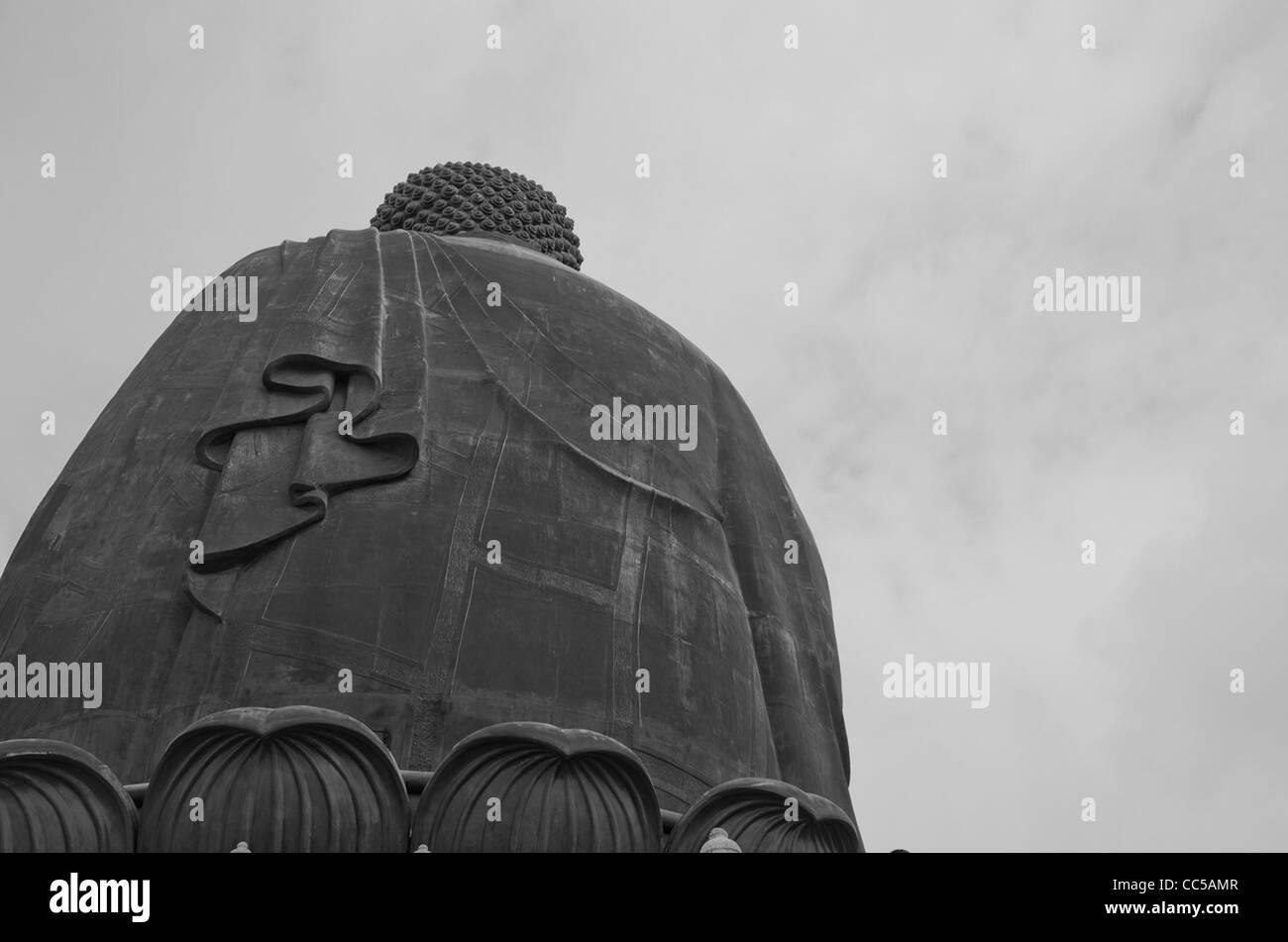 Giant Buddha in Lantau Island, Hong Kong, Asia - Stock Image