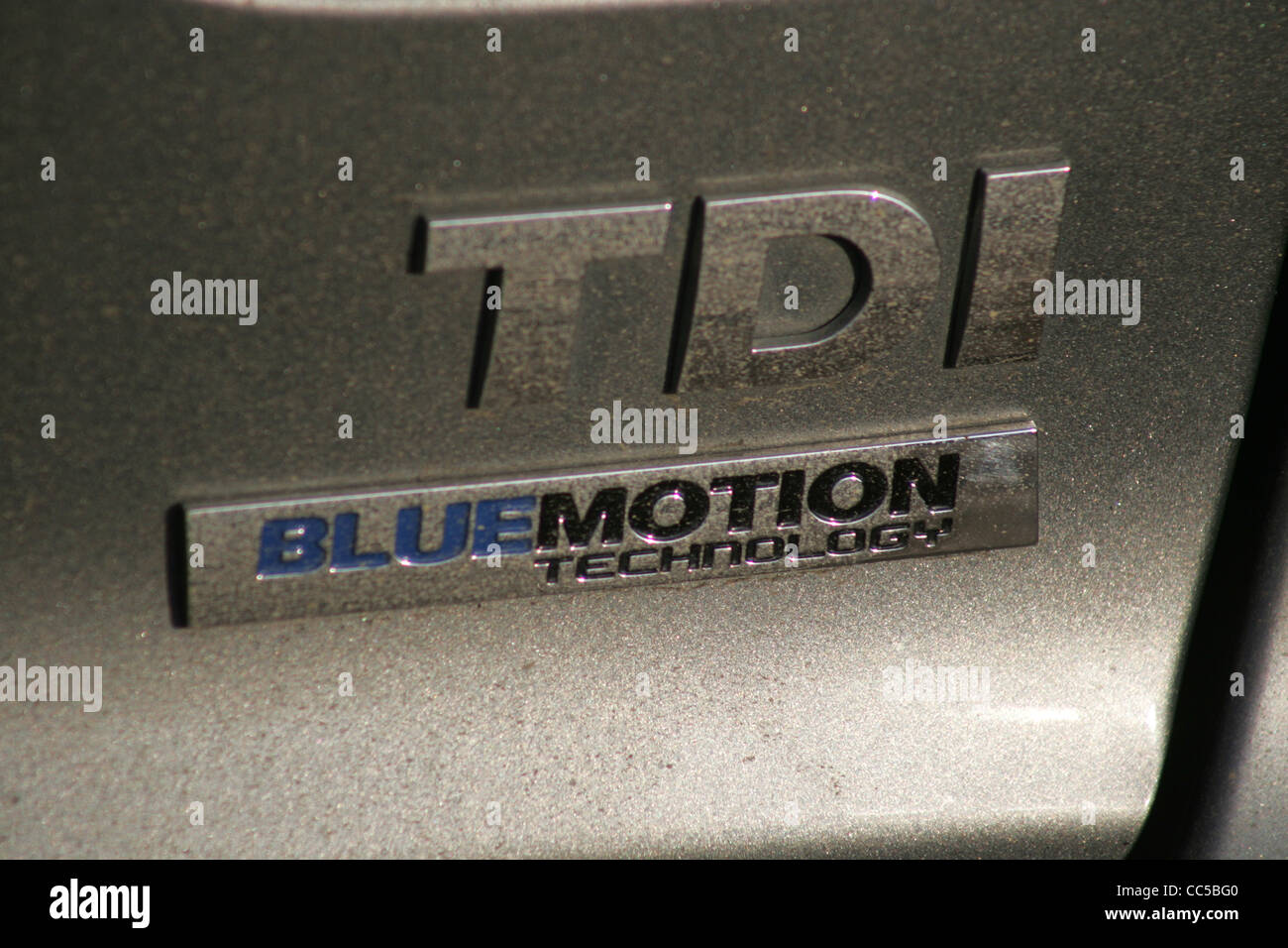 vw, bluemotion, tdi, closeup - Stock Image