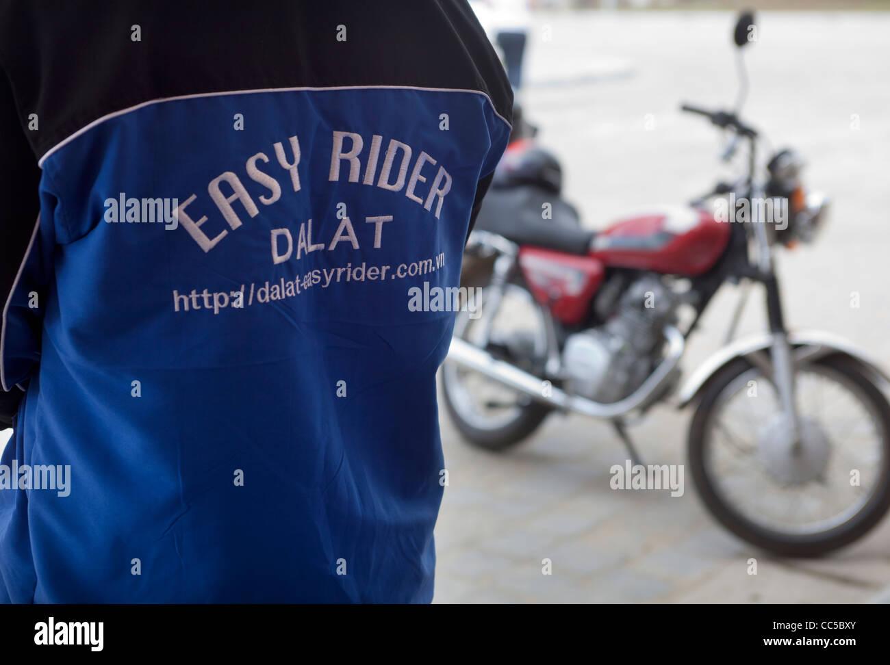 Easy Rider Motor Cycle Travel Guide Dalat Stock Photo