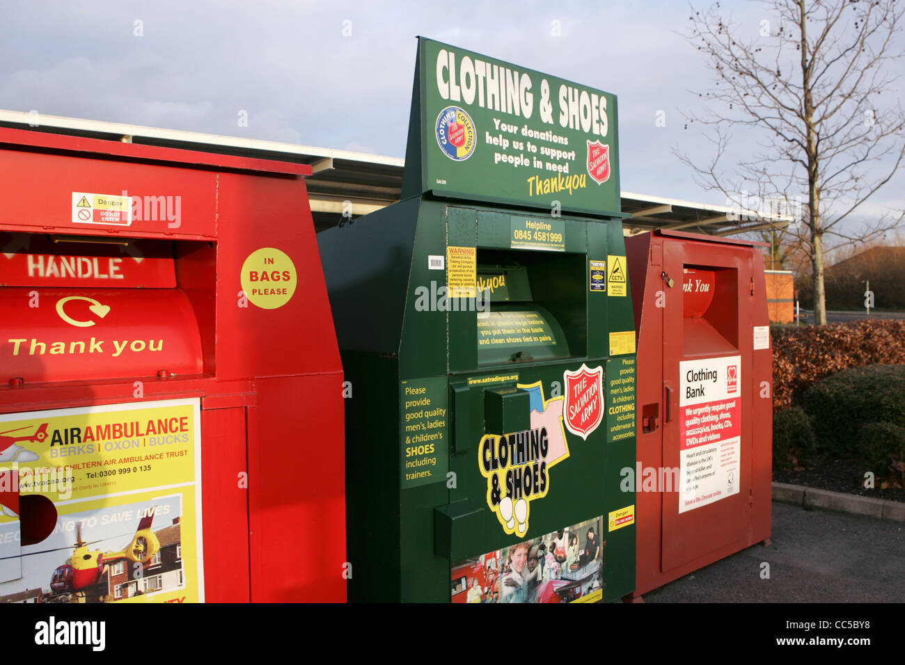 recycling centre at didcot jan 2012 - Stock Image