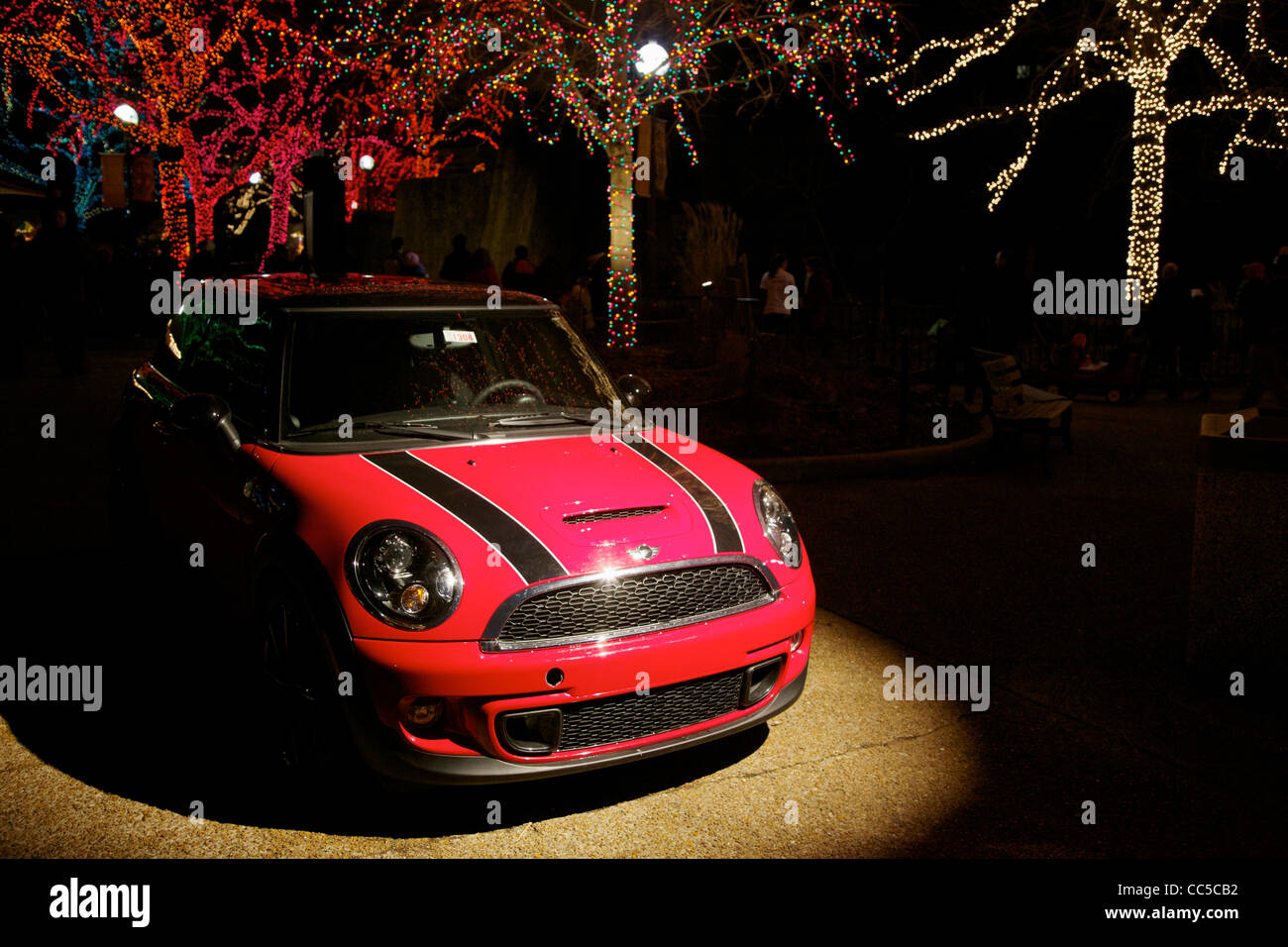 Mini Cooper S On Display Lincoln Park Christmas Zoo Lights Festival