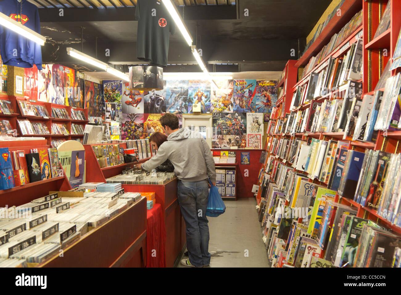Mega-City Comics - Comic Bookstore - Camden - London - Stock Image