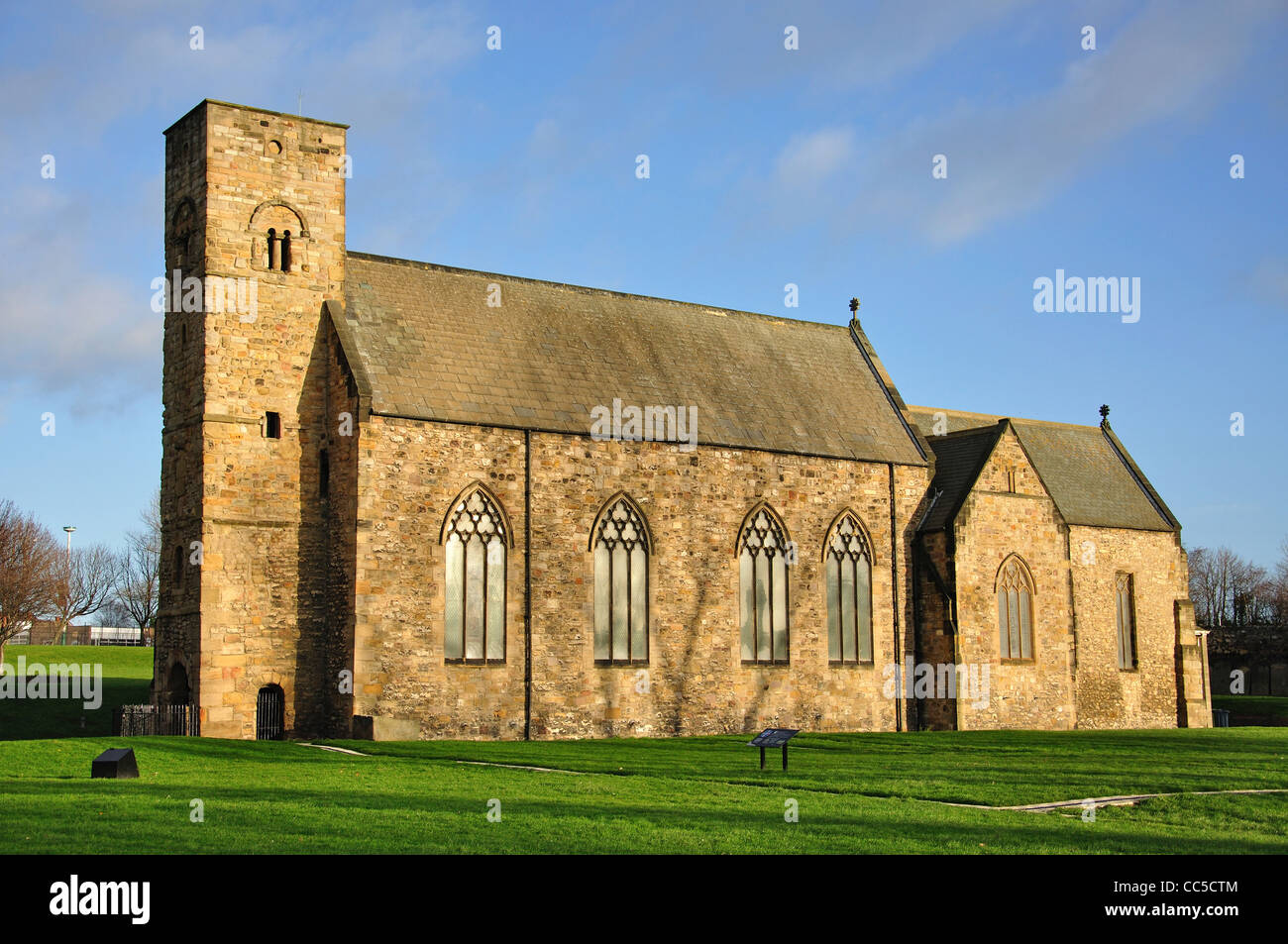 7th century St Peter's Church and monastic site, Monkwearmouth ...