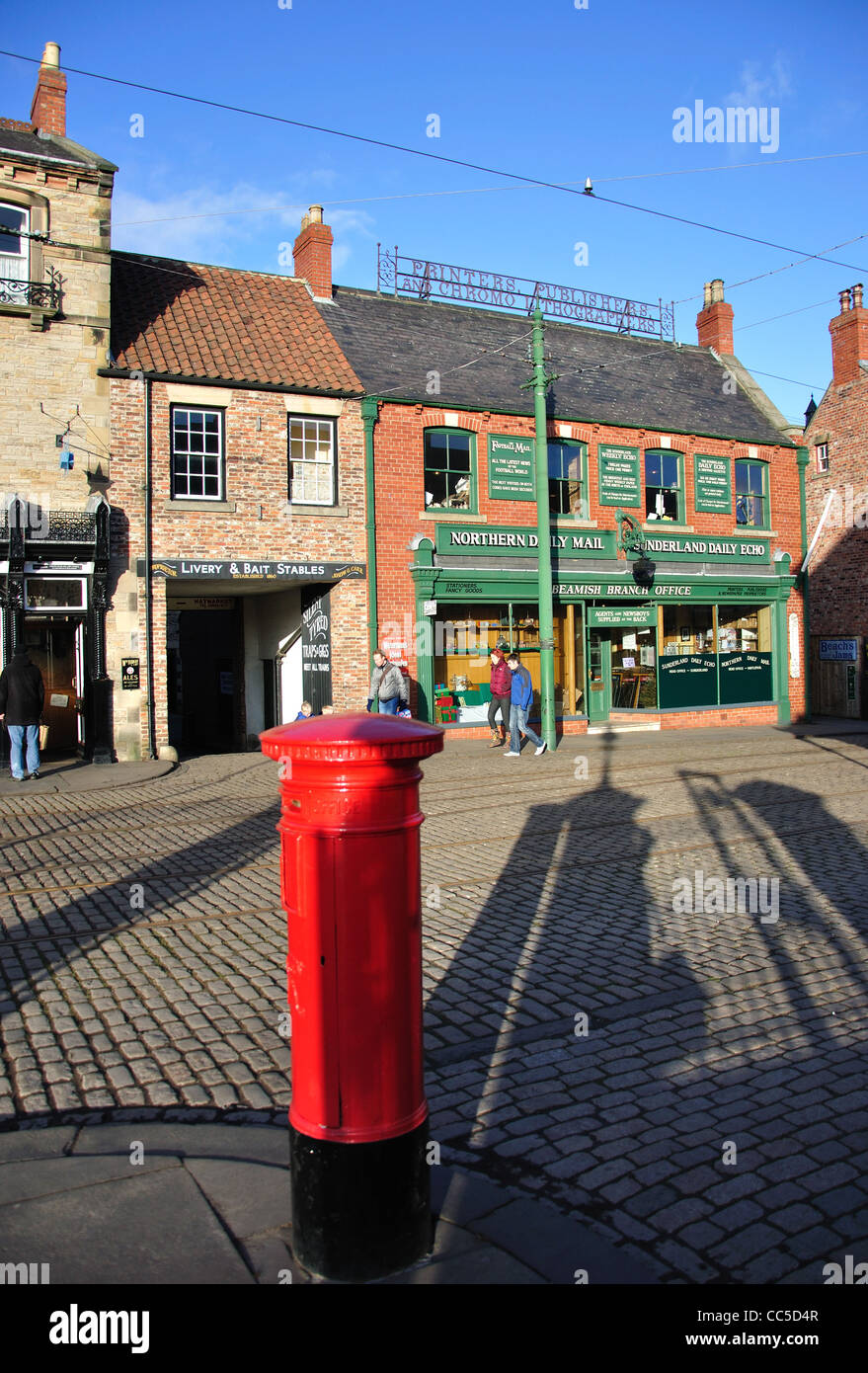 Edwardian Town, Beamish, The North of England Open Air Museum, near Stanley, County Durham, England, United Kingdom - Stock Image