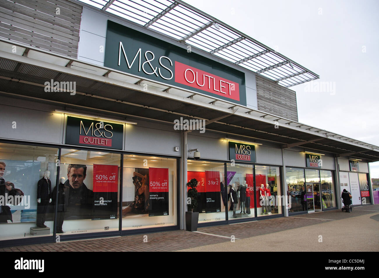 M S Outlet Store At Dalton Park Outlet Shopping Centre Seaham Stock
