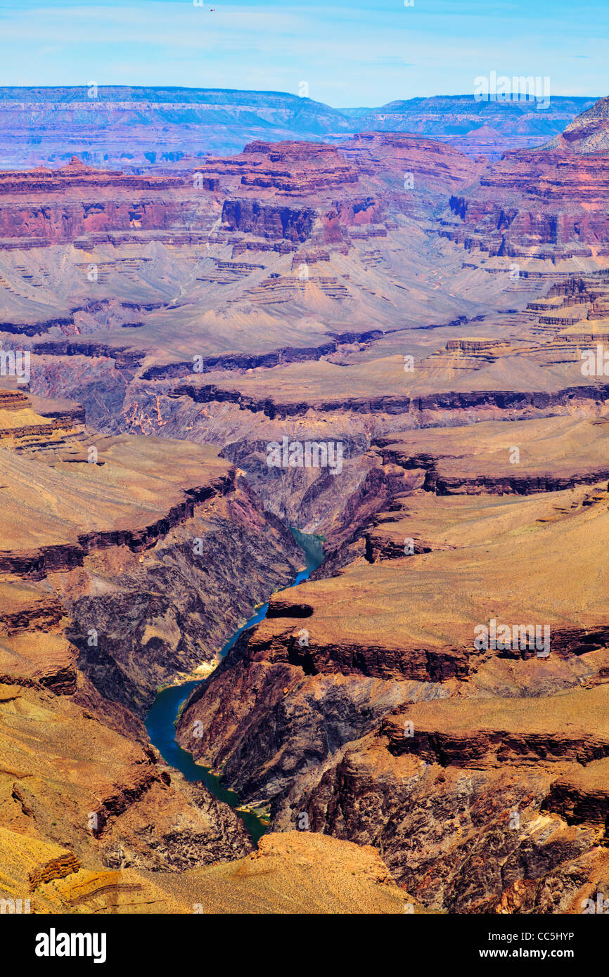Grand Canyon South Rim Pima Point Grand Canyon National Park Arizona USA - Stock Image