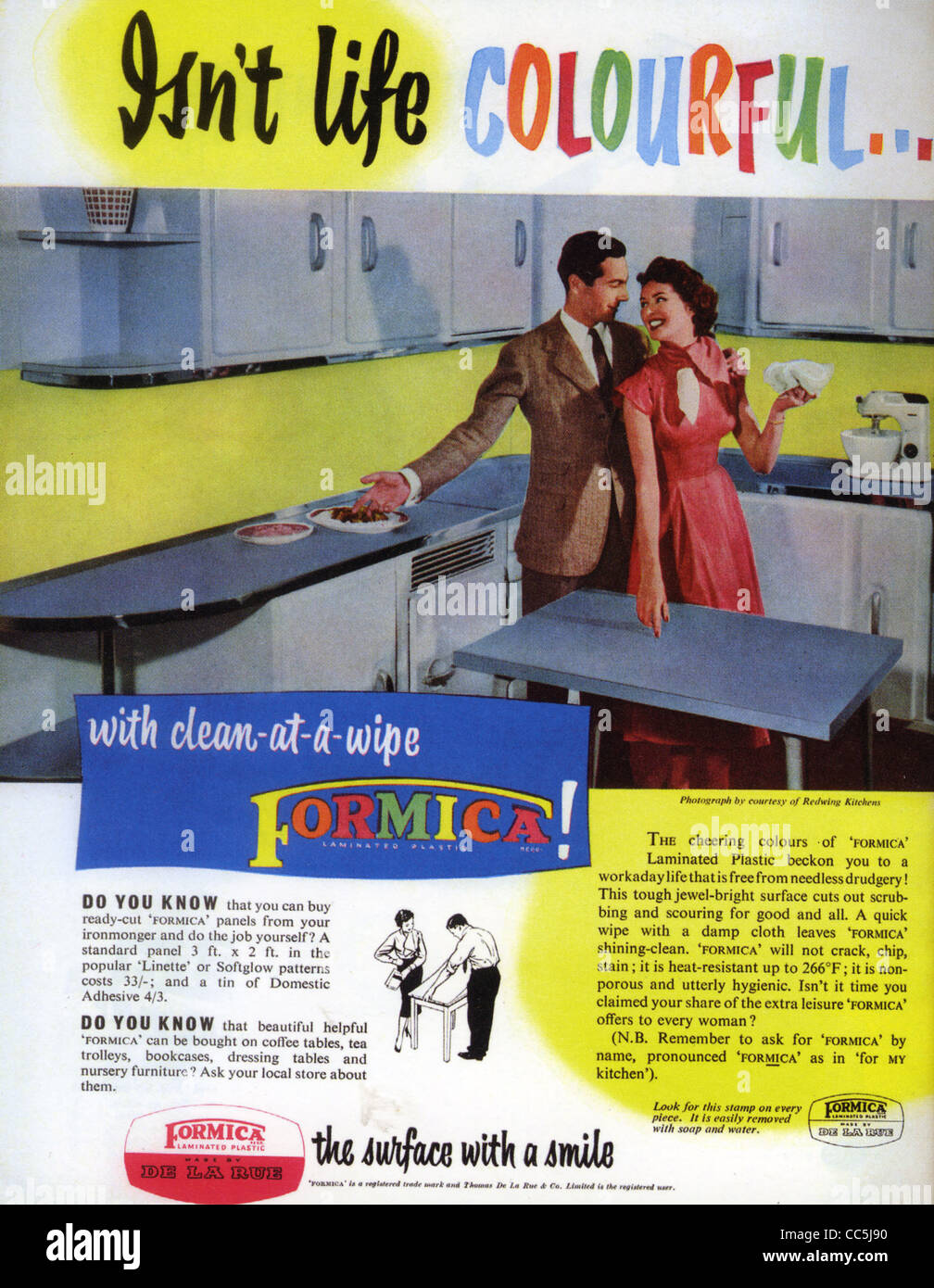 FORMICA advert about 1970 - Stock Image