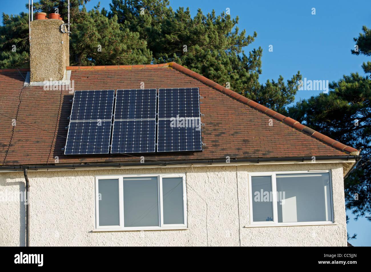Solar energy house UK - Stock Image