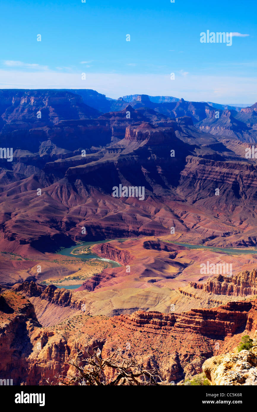 Grand Canyon South Rim Lipan Point Grand Canyon National Park Arizona USA - Stock Image
