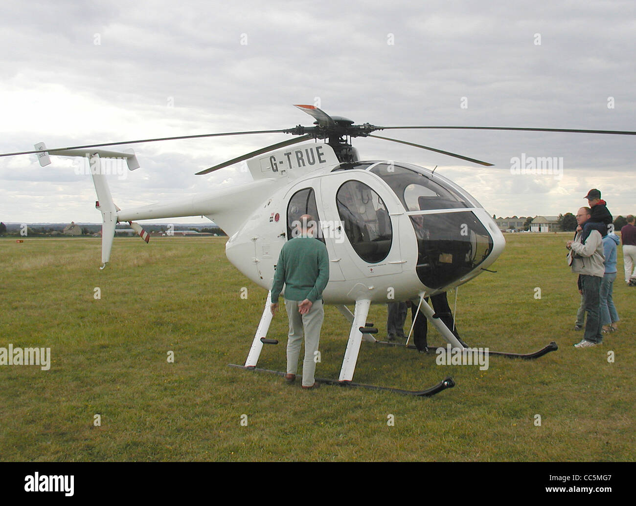 MD500E (G-TRUE, built 1992) at Kemble Airfield, Gloucestershire, England. - Stock Image