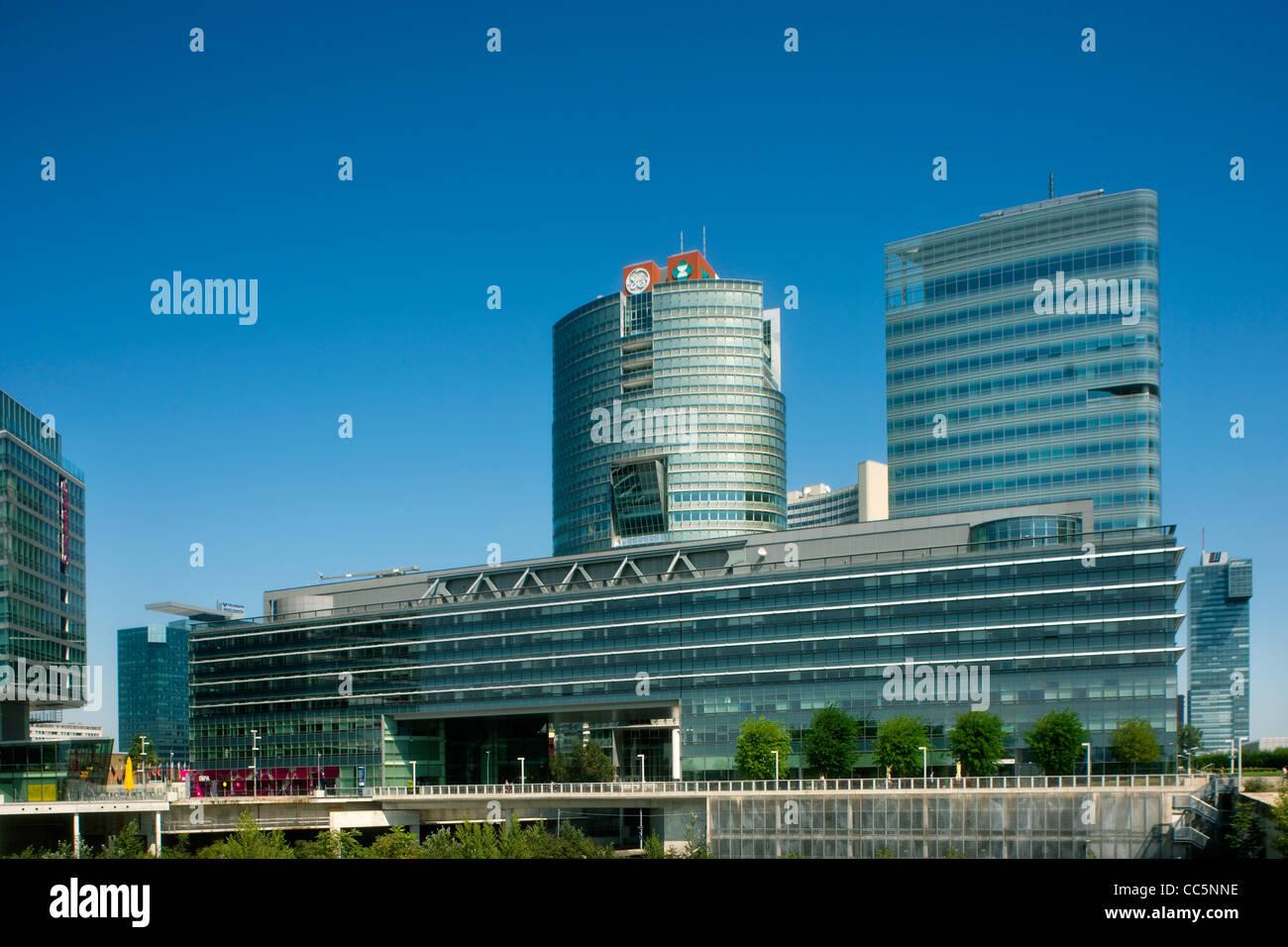 Österreich, Wien 22, Donaucity - Stock Image