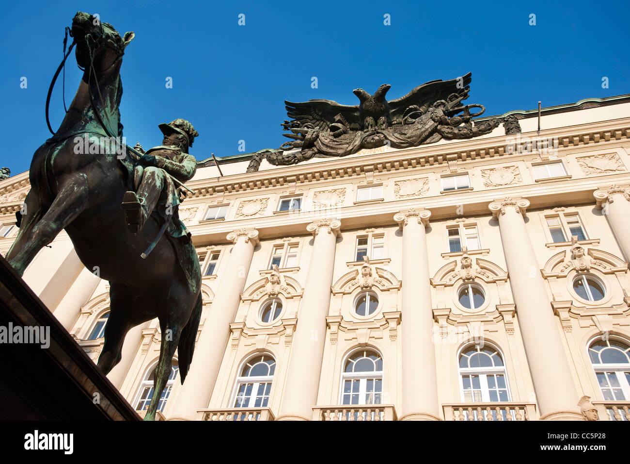 Österreich, Wien 1, Ehemaliges k.u.k. Kriegsministerium am Stubenring 1, heute Sitz mehrerer Bundesministerien, - Stock Image