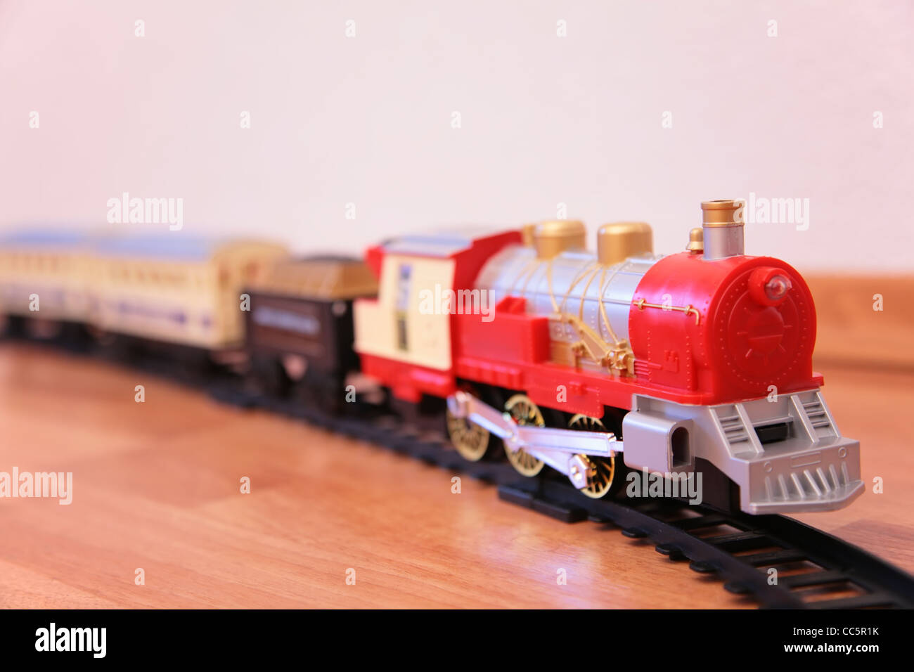 Red toy train Stock Photo