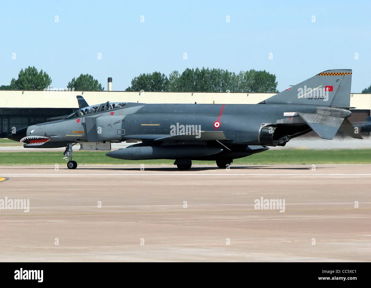 Turkish Air Force McDonnell Douglas F-4E Phantom II (code 68-0342) taxis for takeoff at the Royal International - Stock Image