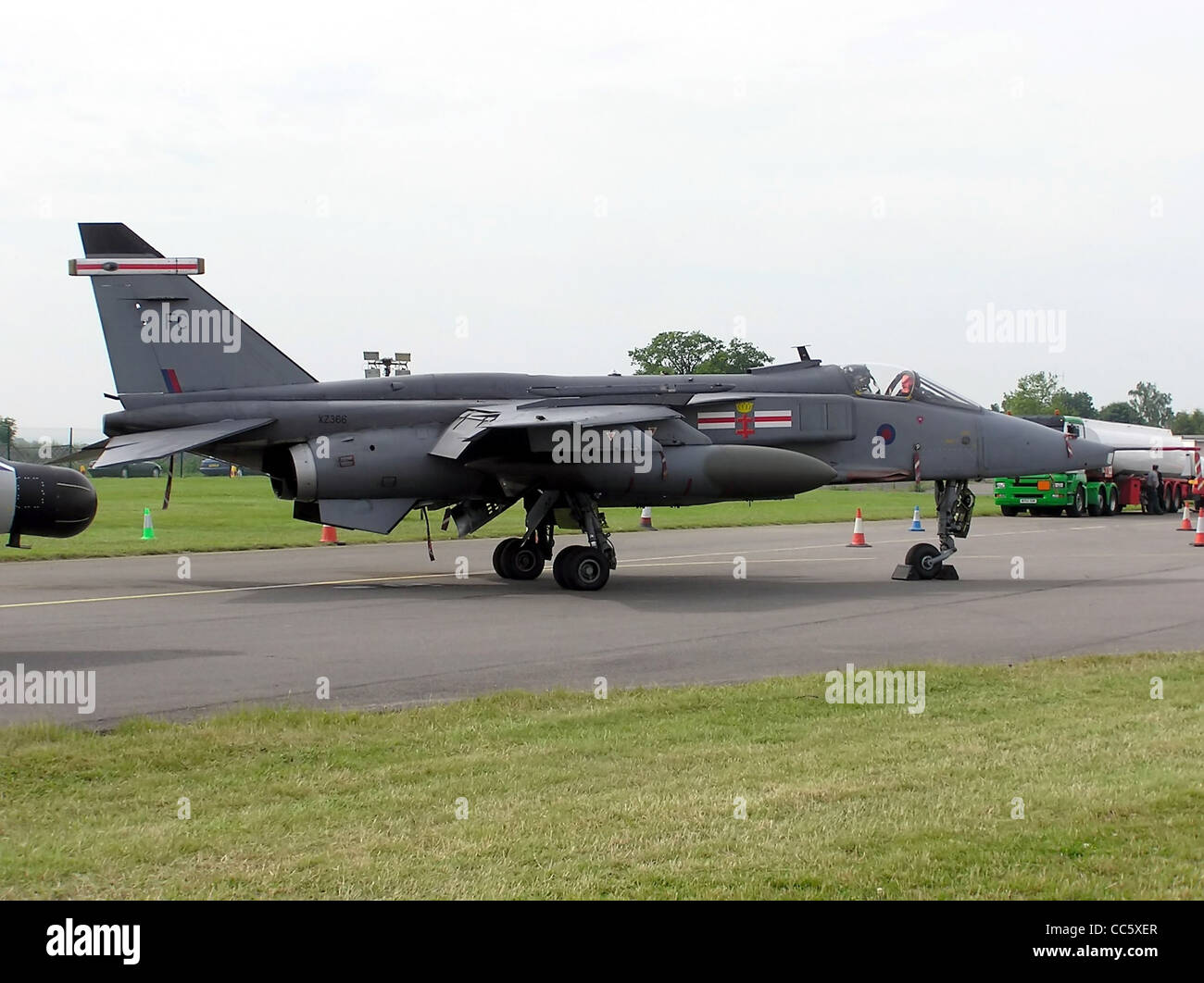 Sepecat Jaguar GR3A of 41 Sqn RAF, at Kemble Airfield, Gloucestershire, England. - Stock Image