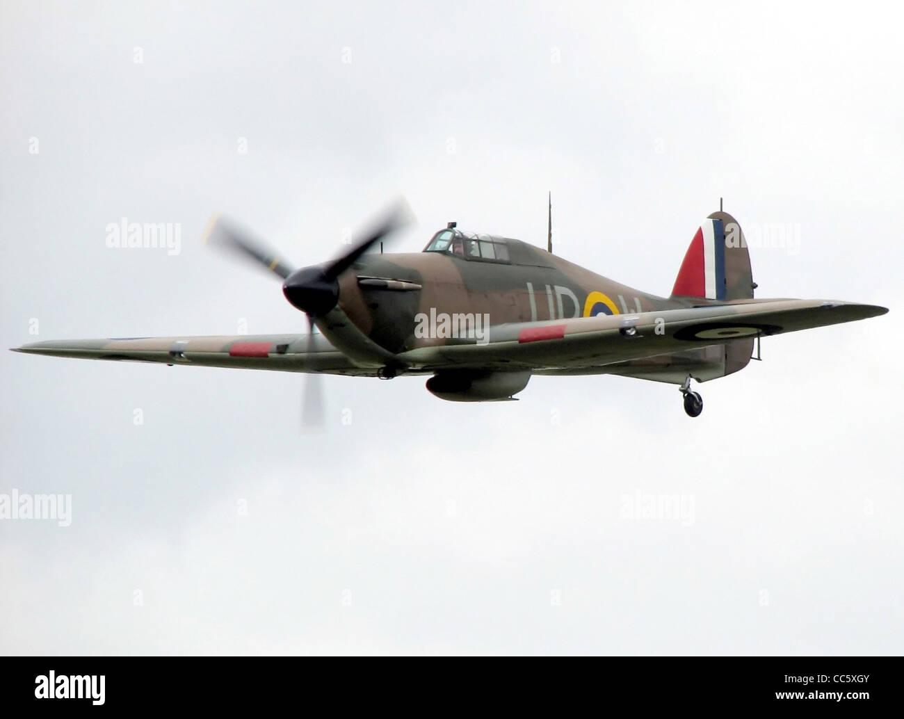Hurricane Mk1, RAF serial R4118 - Stock Image