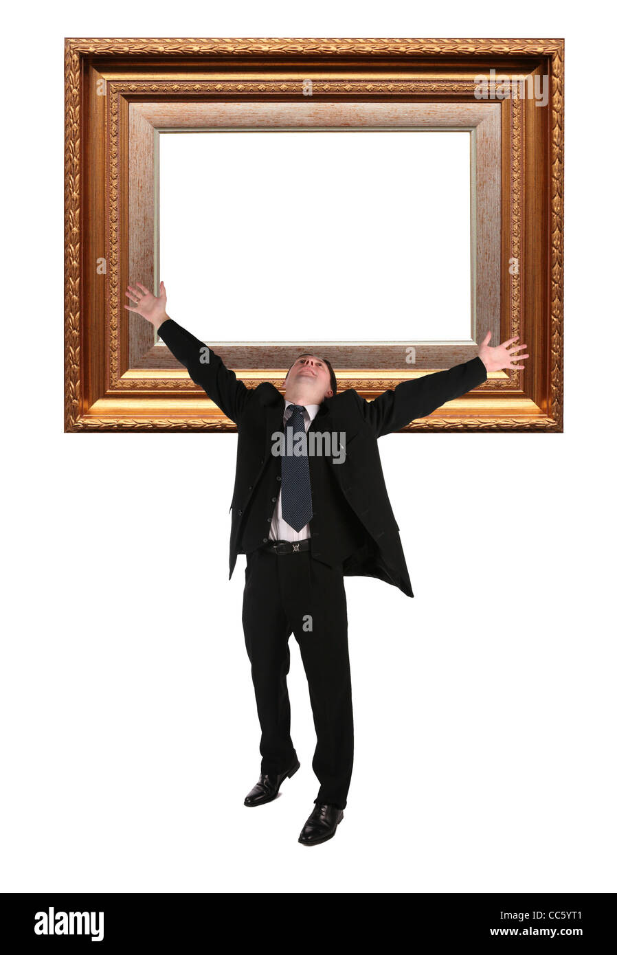businessman and Picture frame baget collage Stock Photo: 41928209 ...