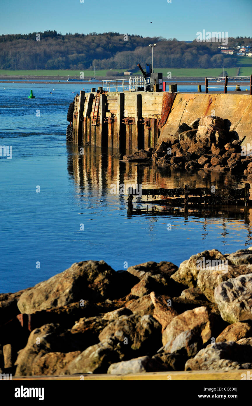 Exmouth docks / harbour and the River Exe - Devon - Stock Image