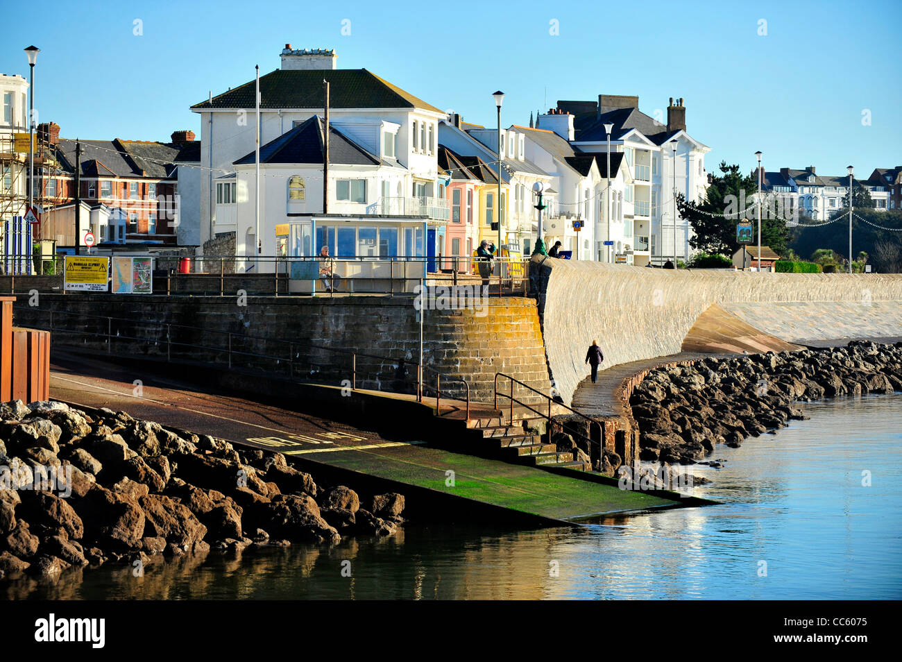 Mamhead Slipway - Exmouth - Devon - UK - Stock Image
