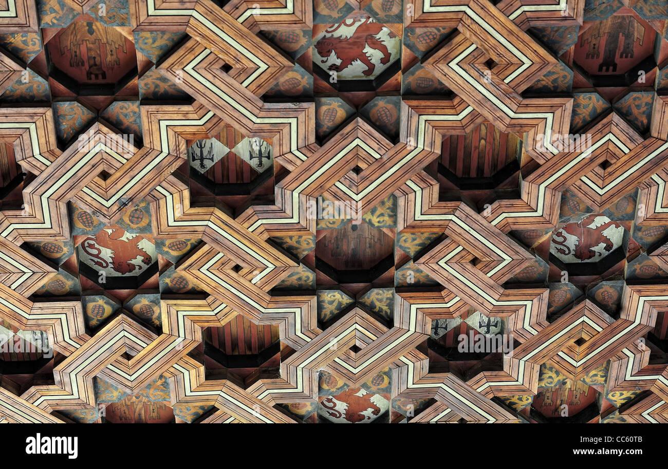 mudejar ornament in the Monastery of San Juan de los Reyes (Toledo, Spain) - Stock Image