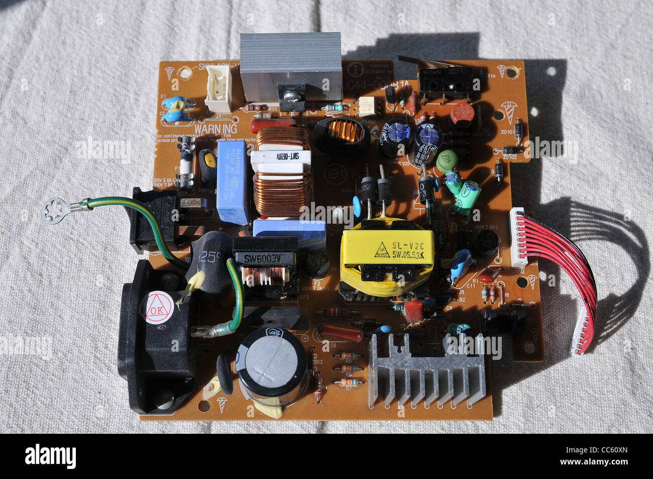 Close Up Of An Electronic Circuit Board Waste From Old Picture Computers Is A Major Concern To Ecologists Around The World
