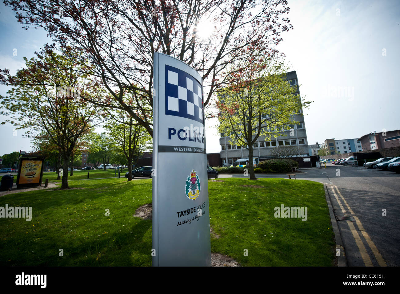 Perth Police Station, Scotland, Tayside. Barrack Street in Perth. - Stock Image