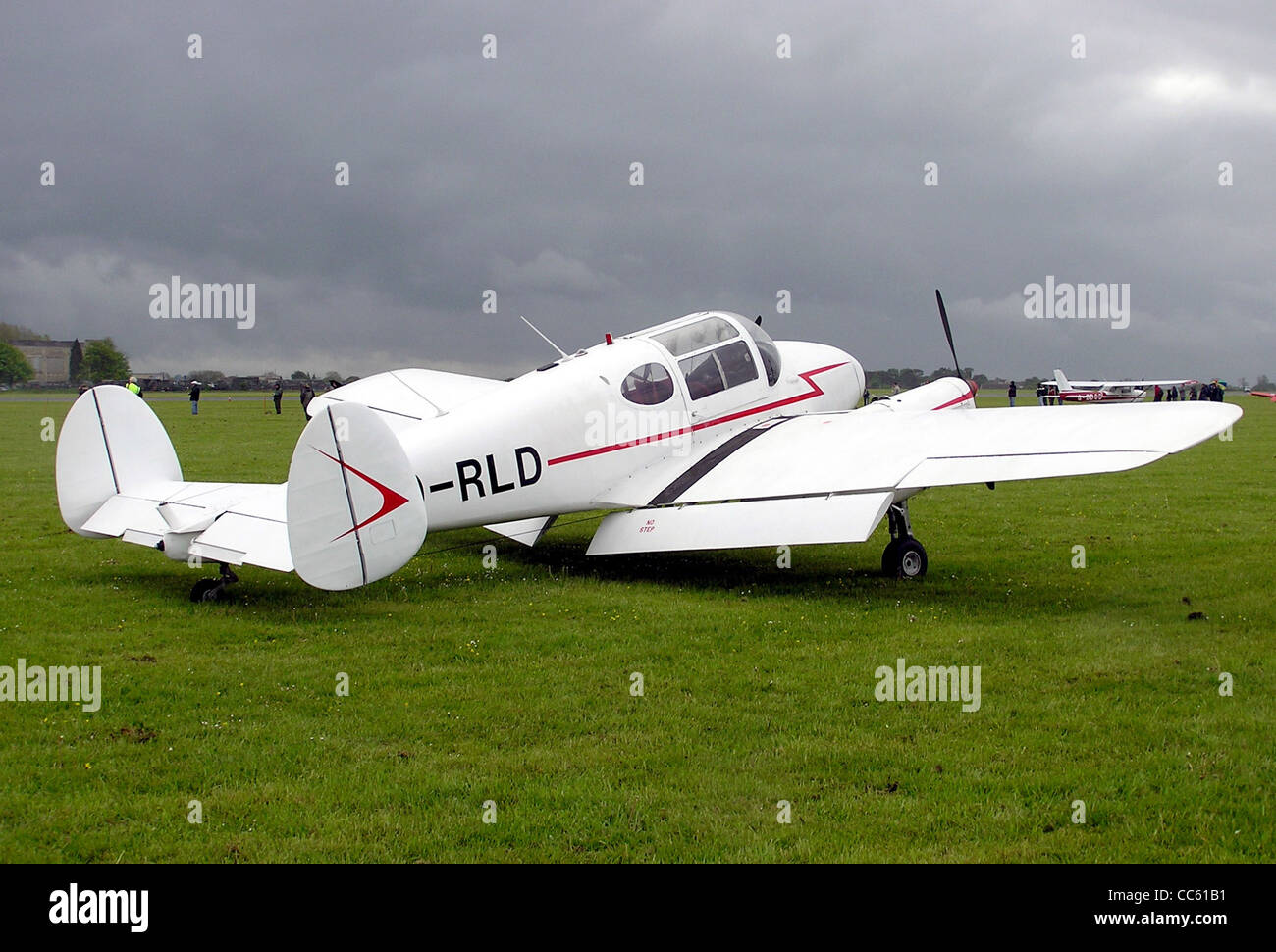Miles M65 Gemini 1A (Belgium registration OO-RLD, date of build 1947) at Kemble Airfield, Gloucestershire, England. - Stock Image