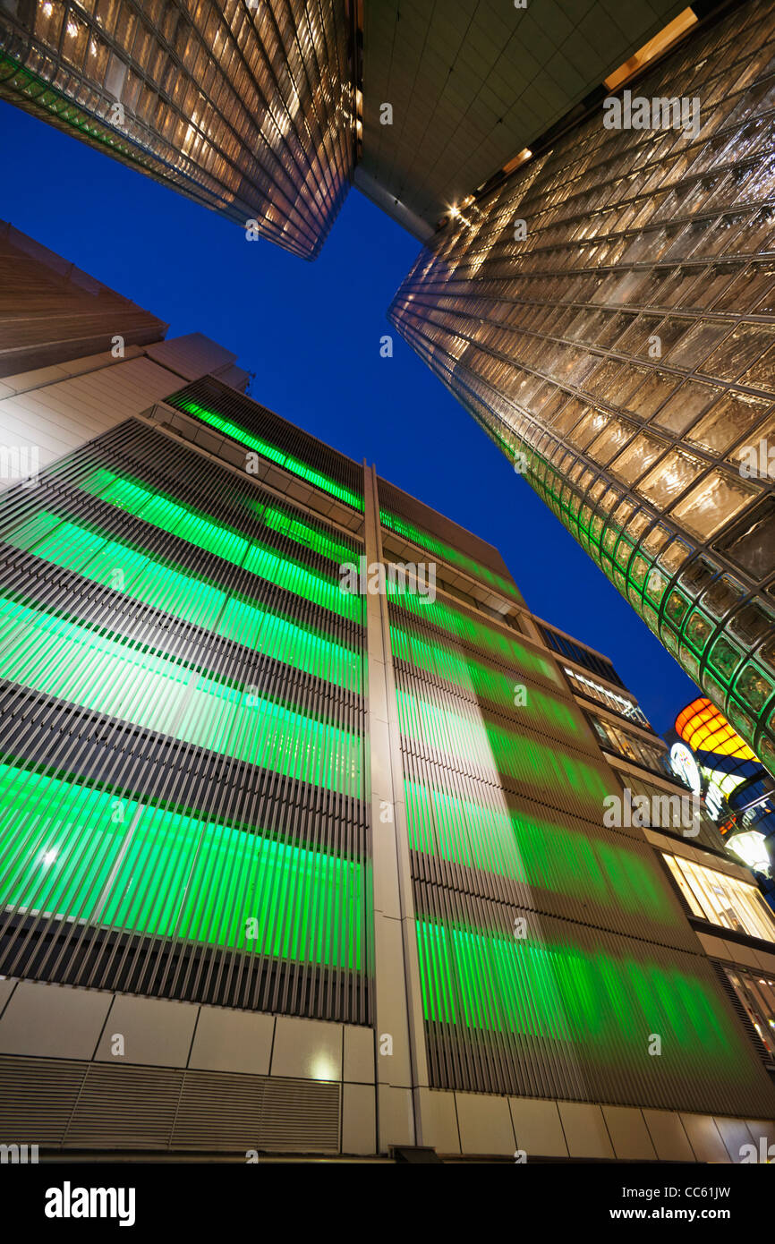 Japan, Tokyo, Ginza, Maison Hermes Store and Sony Building Stock Photo