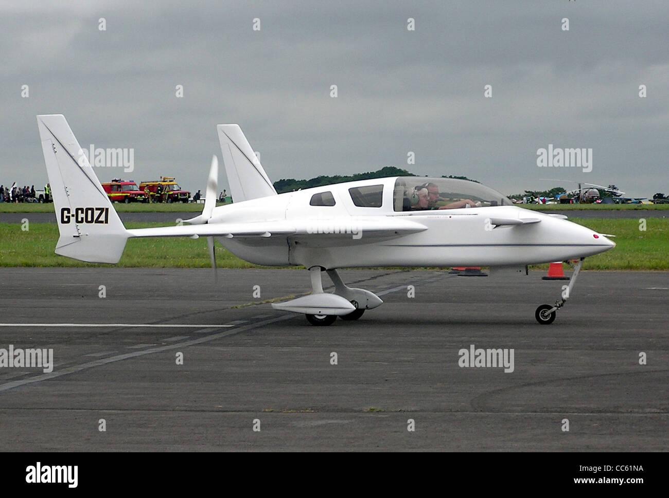 Rutan Cosy Mk.III (UK registration G-COZI) at Kemble Airfield, Gloucestershire, England. - Stock Image