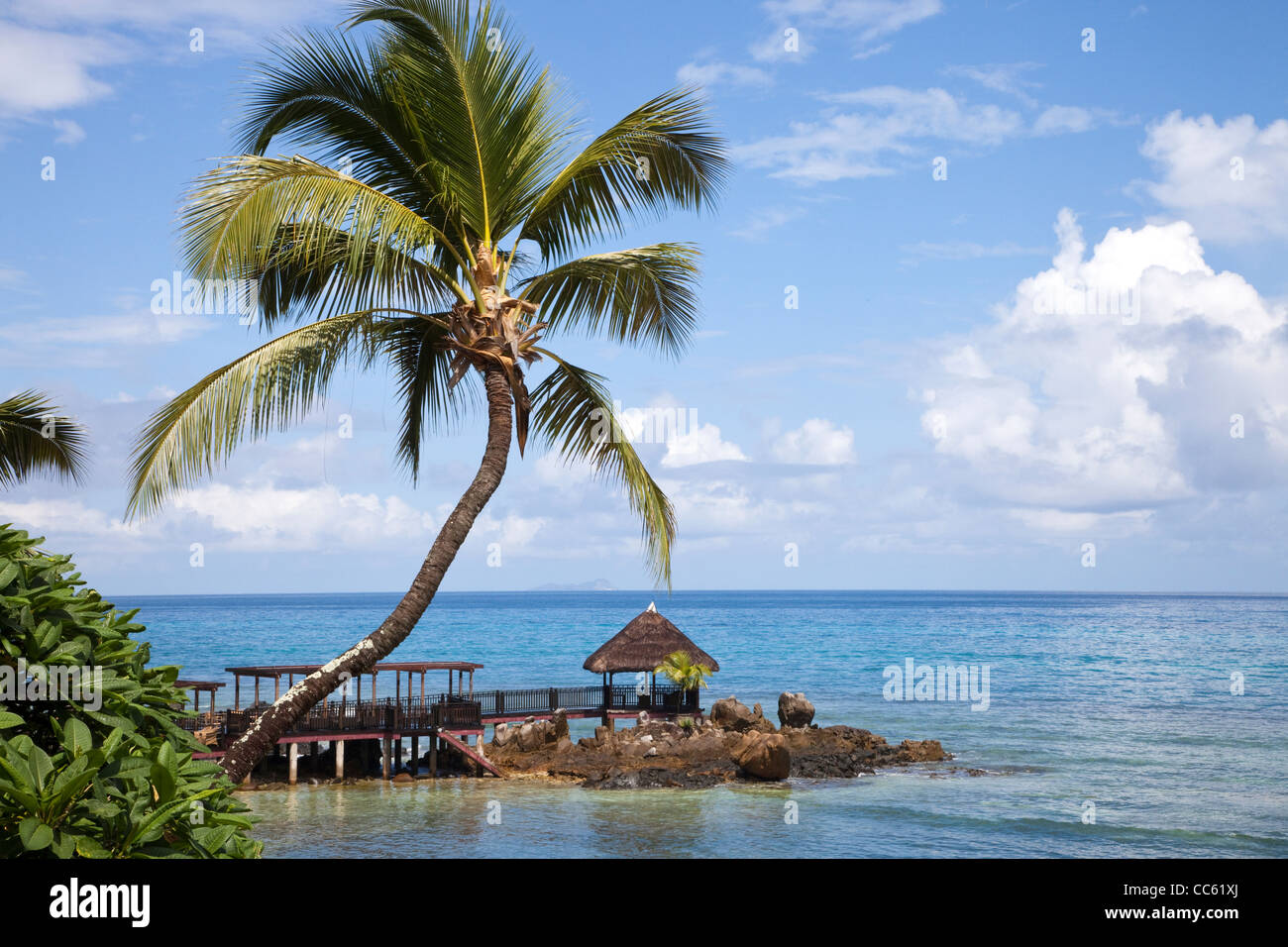 Fishermans Cove, Bel Ombre, Vallon bay, Mahe Island, Seychelles - Stock Image