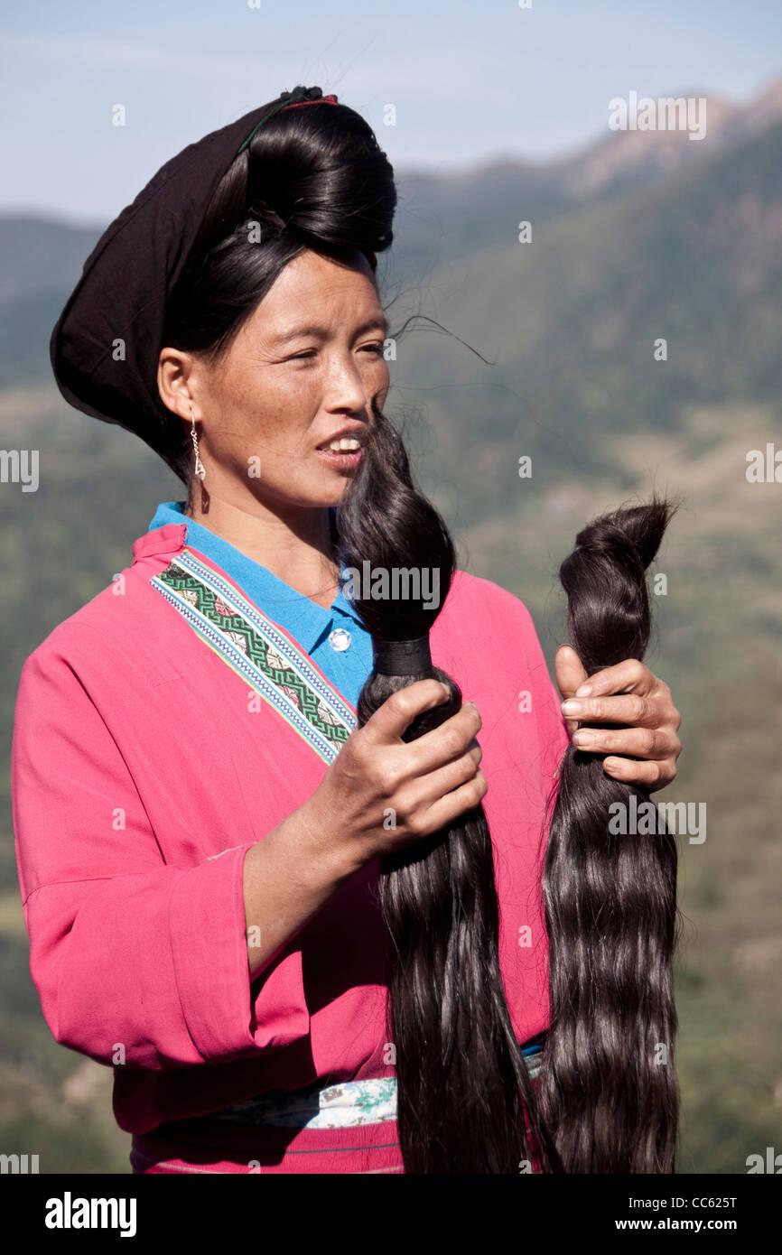 Quot Long Hair Quot Yao Woman Longji Near Guilin Guangxi